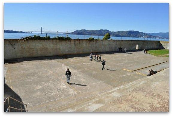 outdoor area at alcatraz