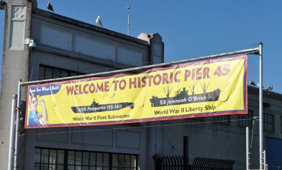 historic pier 45 sign