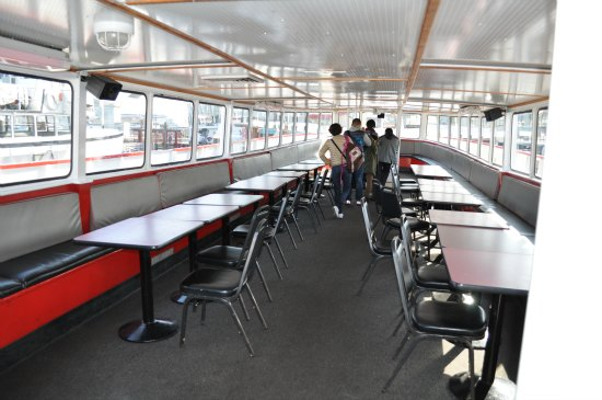 indoor seating sf bay cruise