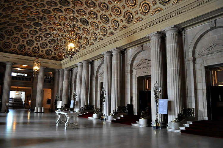Inside the War Memorial Opera House - Main Hallway
