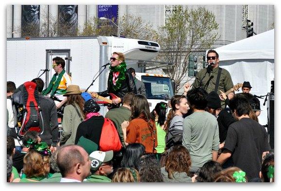 irish band at festival