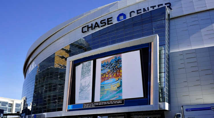 Jumbotron at the Chase Center