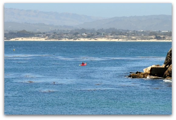 lone kayakers monterey bay