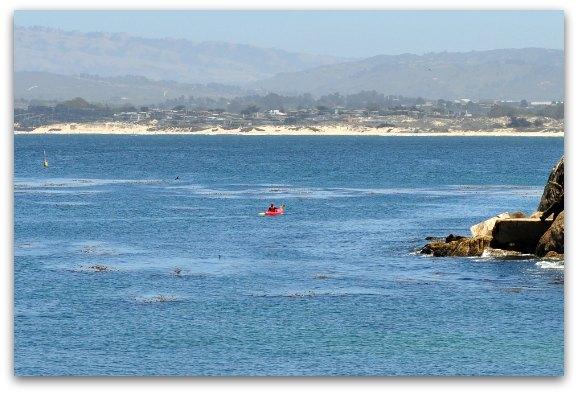 lone kayakers monterey bay