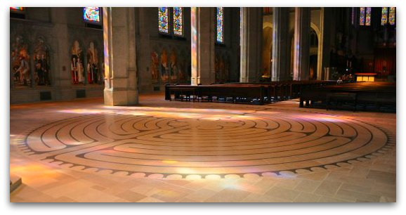 labyrinth at grace cathedral