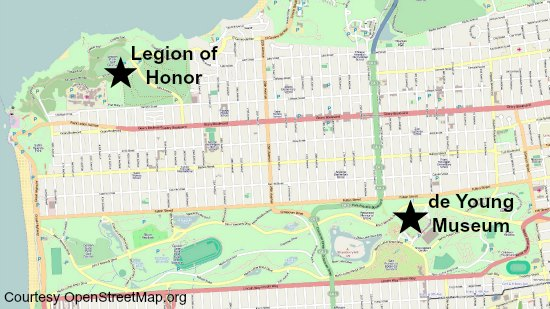 legion of honor map
