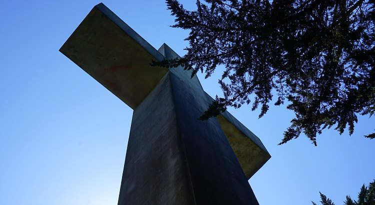 Looking up at the cross in SF