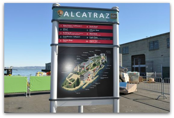 map at alcatraz landing