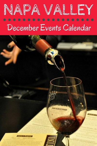 Napa Events in December: Holiday Parties, Open Houses, & Wine Tasting