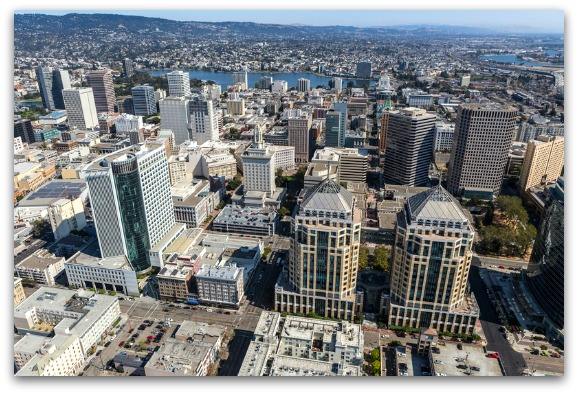 Oakland Downtown Aerial View
