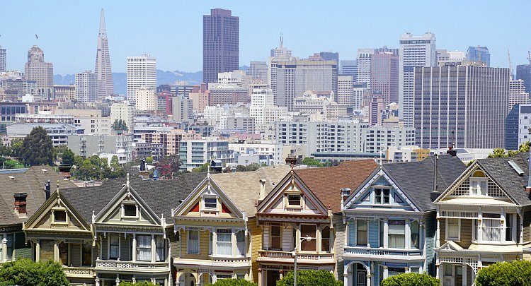 Painted Ladies in Alamo Square