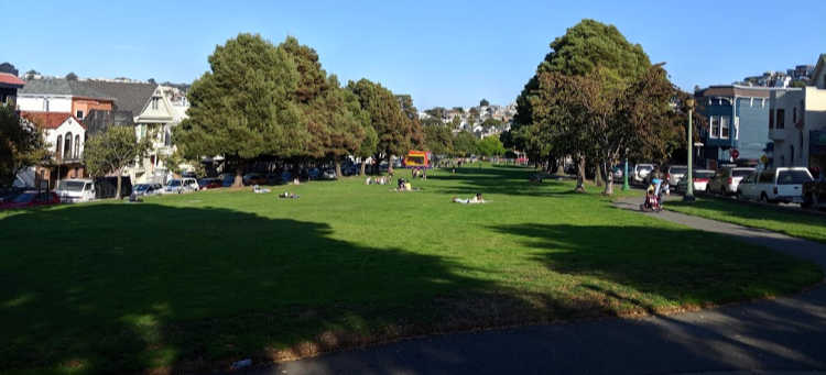 Precita Park in the Bernal Heights Neighborhood