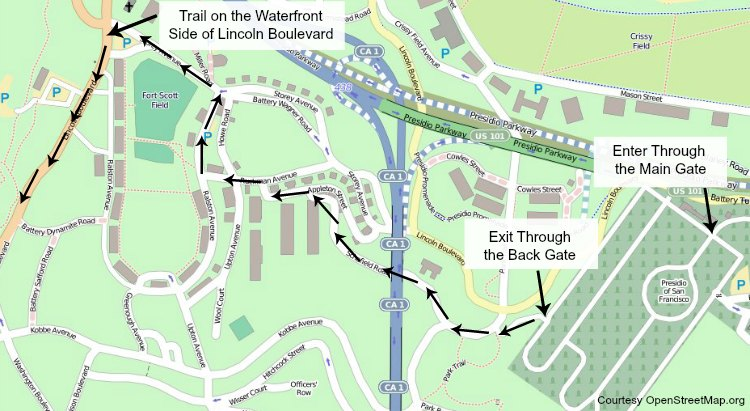 presidio trail map