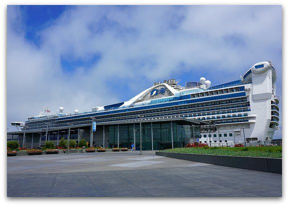 Princess Ship in SF Port