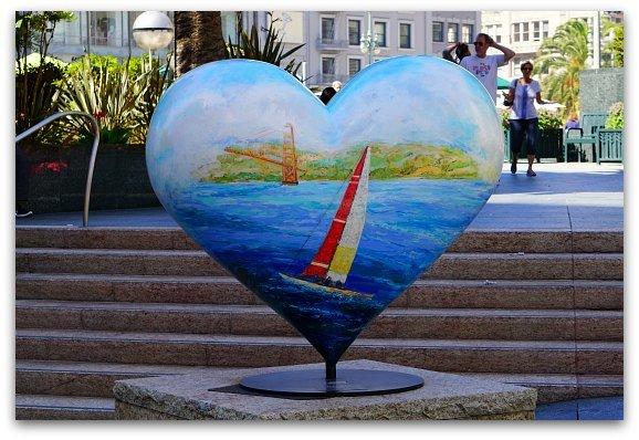 Sail Boat Heart in Union Square