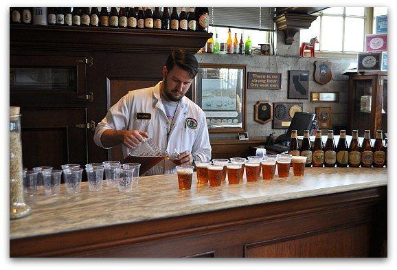 Sampling Anchor Beers