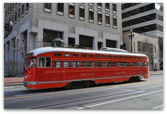 red sf street car