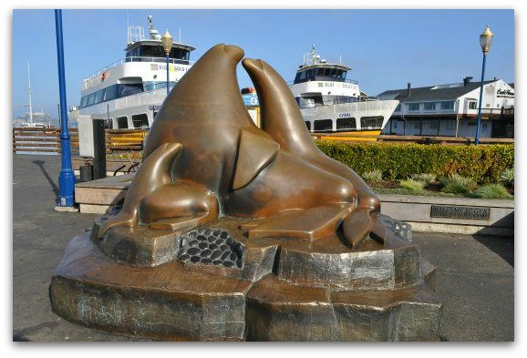 Statue of Sea Lions in Fisherman's Wharf