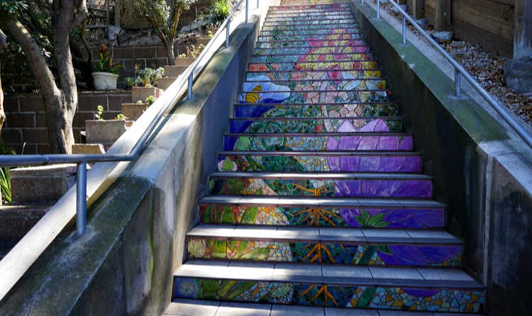 Section three of the SF Hidden Garden Stairs