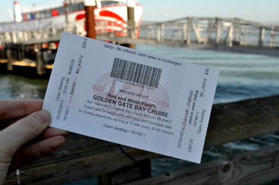 golden gate cruise ticket