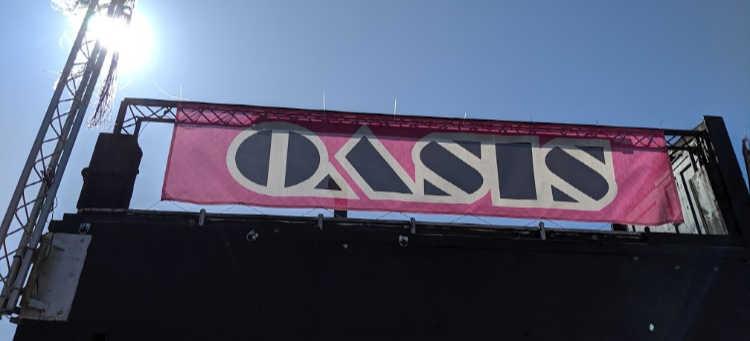 Sign Outside Oasis