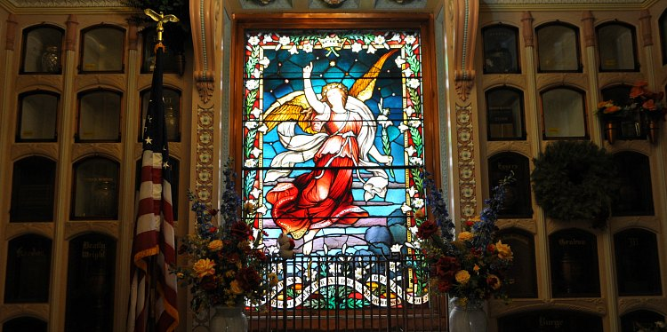 Stained Glass in the Columbarium in the Richmond District