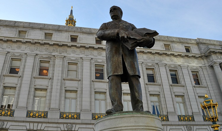Statue Outside City Hall