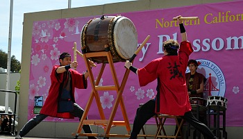 Taiko Drummers at the Cherry Blossom Festival in SF