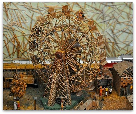 toothpick ferris wheel