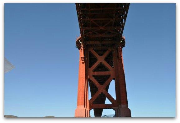 under the gg bridge