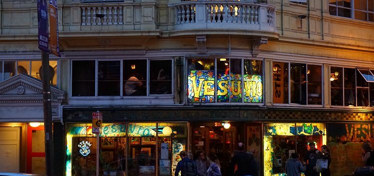 Vesuvio Cafe at Night