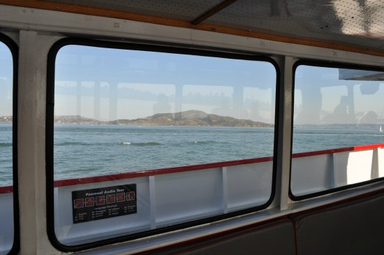 view from inside ferry in sf