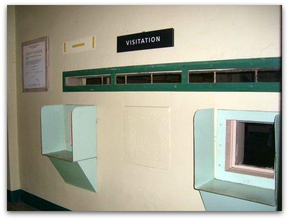 visitation area at alcatraz