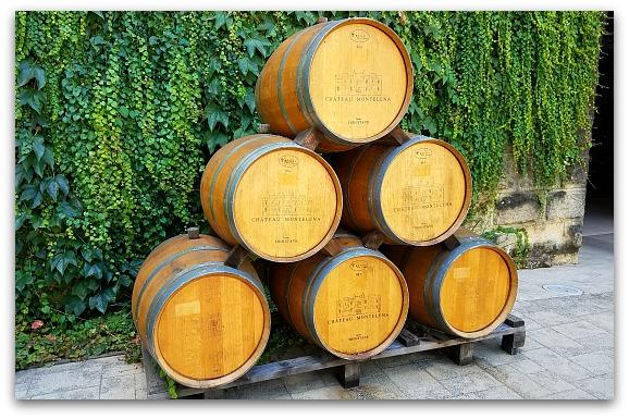 Wine Barrels in Napa at Chateau Montelena