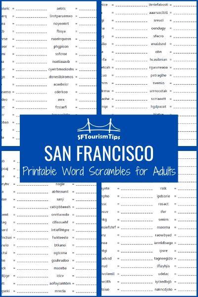 San Francisco Word Scrambles: Fun, Unique Games About SF