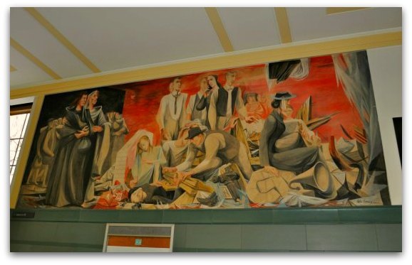 1906 earthquake mural