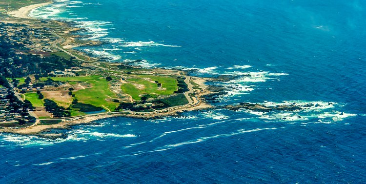 Aerial Views of Part of the 17-Mile Drive