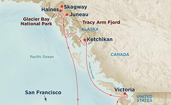 Glacier Bay Cruise Route