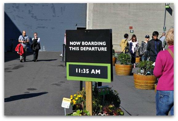 alcatraz boarding sign