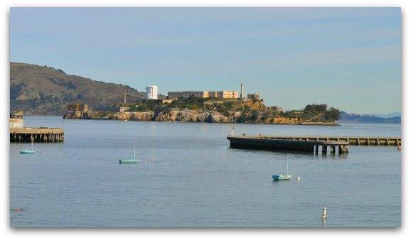 alcatraz island from maritime museum