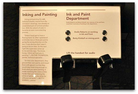 audio displays disney museum