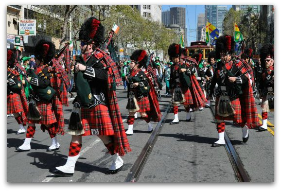bagpipers sf parade
