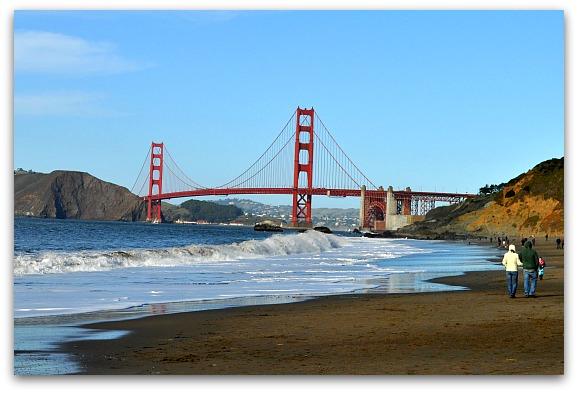 Golden Gate Bridge views from Baker Beach