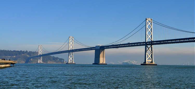 Bay Bridge on my way to Napa