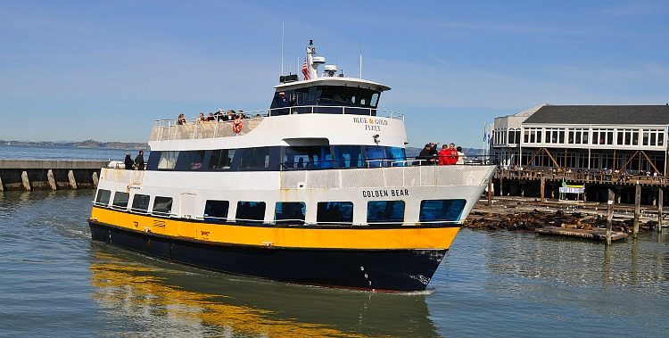 blue and gold ferry