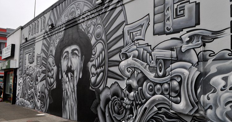 Carlos Santana Mission Mural