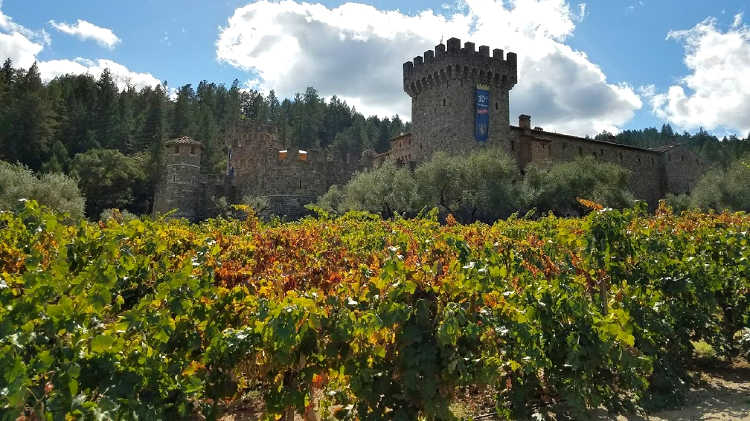 Castello di Amorosa in Napa Valley during the fall