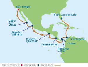 Celebrity Cruise Panama Route