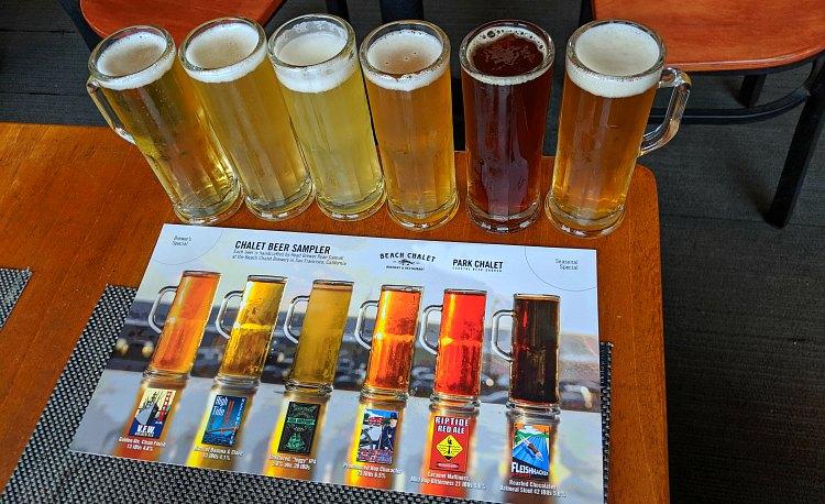 Beach Chalet Beer Sampler