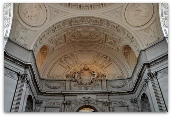 Inside City Hall in SF